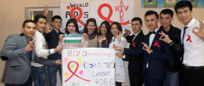 Open lesson-performance was organized on the theme of «HIV Dermatology""