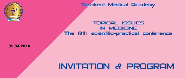 "Welcome to the Vth conference ""Topical issues in medicine"""